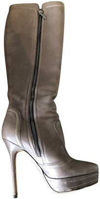 Jimmy Choo Grey Leather Boots