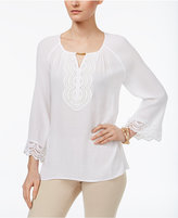 JM Collection Bell-Sleeve Keyhole Tunic, Only at Macy's
