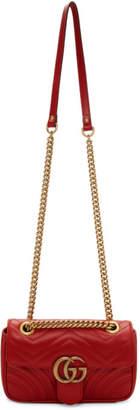 Gucci Red Mini Marmont Bag