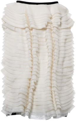 Erdem White Silk Skirt for Women