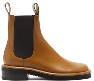 Proenza Schouler Pipe Leather Chelsea Boots - Tan
