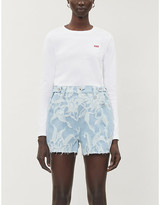 Levi's Levis Made & Crafted Made & Crafted Botanical print denim shorts