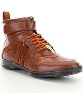 Belvedere Rino High-Top Crocodile & Leather Sneakers
