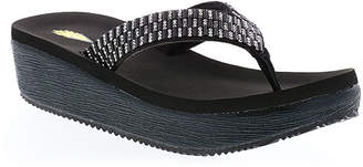 Volatile Women's Sandals BLACK - Black Sequin-Accent Boldone Platform Sandal - Women