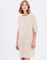 MinkPink Lace Up Knit Dress