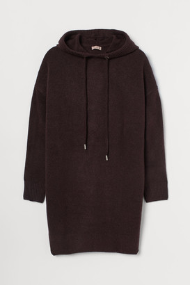 H&M H&M+ Knit Hooded Dress - Red