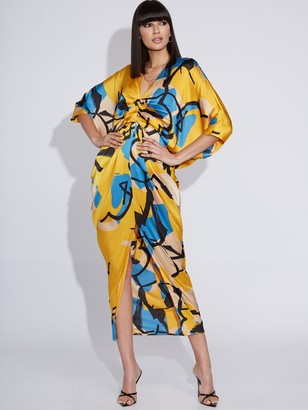 New York & Co. Draped Maxi Dress - Gabrielle Union Collection