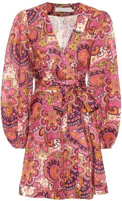 Zimmermann Fiesta paisley linen minidress