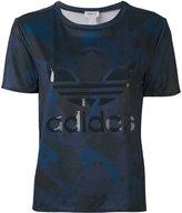 adidas logo print T-shirt - women - Polyester - 40