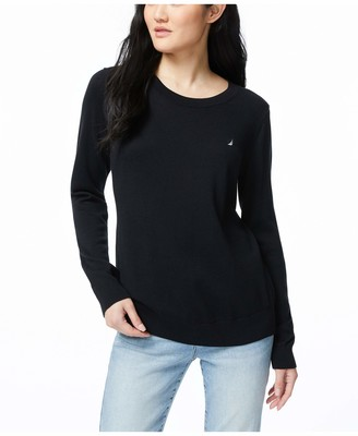 Nautica Women's Super Soft Crew Neck Sweater