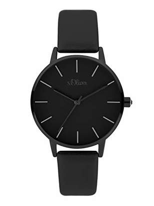 S'Oliver Womens Analogue Quartz Watch with Leather Strap SO-3825-LQ