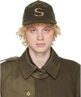Sacai Khaki Melton Cap