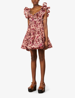 Zimmermann Love ruffle-trimmed woven mini dress