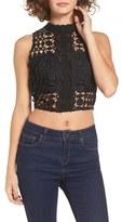 Astr Women's Mia Crochet Crop Tank