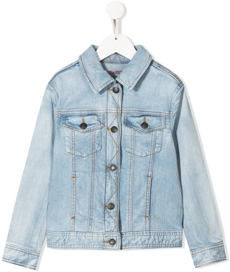 Zadig & Voltaire Kids Alex contrast stitching denim jacket