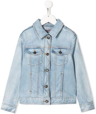 Zadig & Voltaire Kids Alex contrast stitching denim jacket