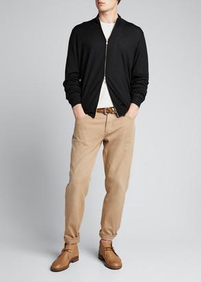 Brunello Cucinelli Men's Zip-Front Cashmere-Blend Cardigan