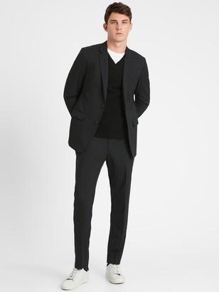 Banana Republic Standard Solid Italian Wool Suit Jacket