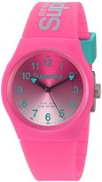 Superdry Women's 'Urban Laser' Quartz Plastic and Silicone Dress Watch, Color:Pink (Model: SYL198PN)