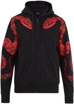 Marcelo Burlon County of Milan Snake-print cotton-jersey hooded sweatshirt