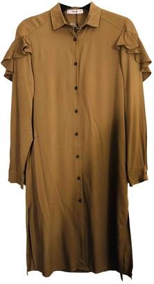 MANGO Khaki Cotton Dress for Women