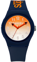 Superdry Unisex Urban Laser Silicone Strap Watch