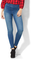 New York & Co. Soho Jeans - High-Waist Pull-On Legging - Polished Blue Wash