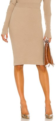 Enza Costa Brushed Sweater Knit Skirt