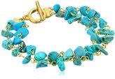 """Karen Kane Seven Seas Beaded Gold Tone Bracelet, 8"""""""