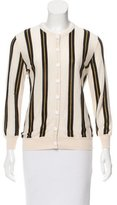 L'Wren Scott Striped Cashmere-Blend Cardigan