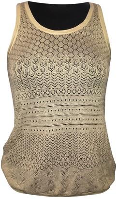 Proenza Schouler Beige Silk Top for Women