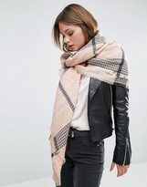 Pieces Louise Blush Check Scarf