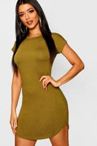 boohoo Taylor Basic Curved Hem T-Shirt Dress