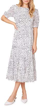 BB Dakota Something About Dots Printed Midi Dress