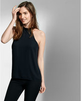 Express high neck chain strap back tank