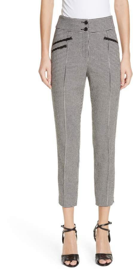 Veronica Beard Felton Houndstooth Trousers