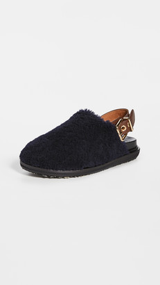 Marni Fussbett Shearling Loafers
