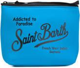 MC2 Saint Barth logo print zip clutch