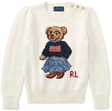 Ralph Lauren Girls' Iconic Bear Sweater - Little Kid