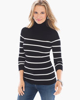 Chico's Striped Rachel Turtleneck