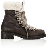 Barneys New York Women's Shearling-Lined Garnet Ankle Boots-DARK BROWN