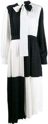 MSGM checked two-tone long dress