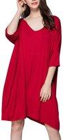 Dolamen Women's Nightdress Nightgowns Modal Nighties Nightshirt Pyjamas Nightwear ...
