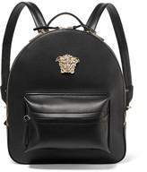 Versace Palazzo Medium Leather Backpack - Black