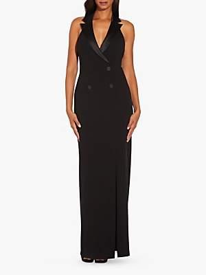 Adrianna Papell Crepe Tuxedo Dress, Black