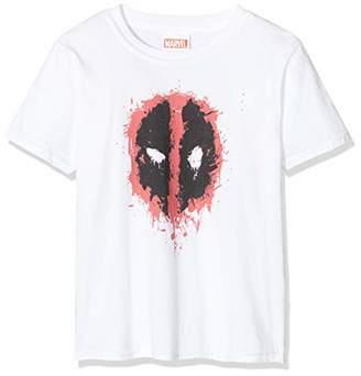 Marvel Girl's Deadpool Splat Face T-Shirt,(Size:9-11Y)