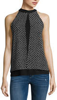 BY AND BY by&by Sleeveless Straight Neck Chiffon Blouse-Juniors
