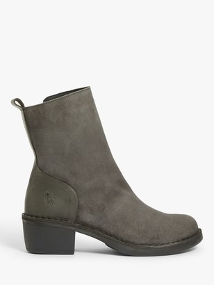 Fly London Moba Suede Ankle Boots, Diesel Grey