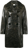 Simon Miller double breasted coat - women - Leather - 1