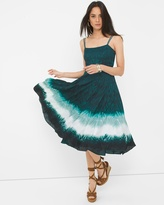 White House Black Market Dip Dye Fit-and-Flare Dress